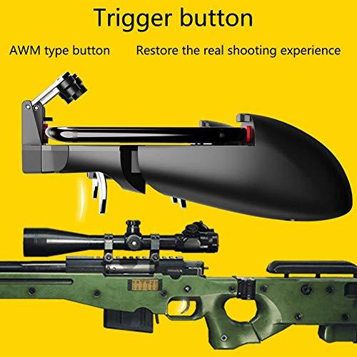 iShiné Game Helper per AK66 MEMO Gioco per Cellulare Impugnatura per PUBG, Sei Dita all-in-One Gioco per Controller Portatile Gratuito Fire Button Joystick Gamepad L1 R1 Trigger