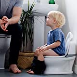 Nuby My Real Potty Training Toilet with Life-Like Flush Button & Sound for Toddlers & Kids, White urinals May, 2021