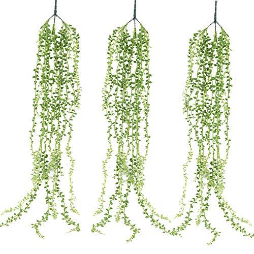 XHXSTORE 3pcs Planta Artificial Colgante Hiedra de Plastica 92cm Enredadera Artificial Exterior e Interior Guirnalda Verde de Follaje Falsa para Pared Maceta Vid Jardin Ventana Balcon Baño Puerta