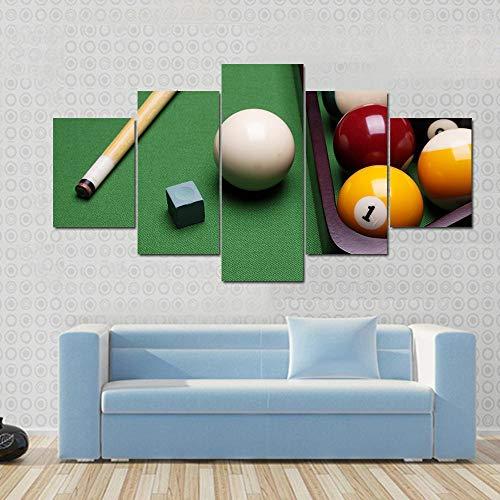 Quadro Multipannello 5 Pannelli Da Parete Equipo De Billar Stampe Quadri Moderni Soggiorno 5 Pezzi Stampa Su Tela Casa Cucina Decorazioni per Interni Arte Regalo