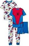 Marvel Boys' Spiderman 4-Piece Cotton Pajama Set, Spider Wonder