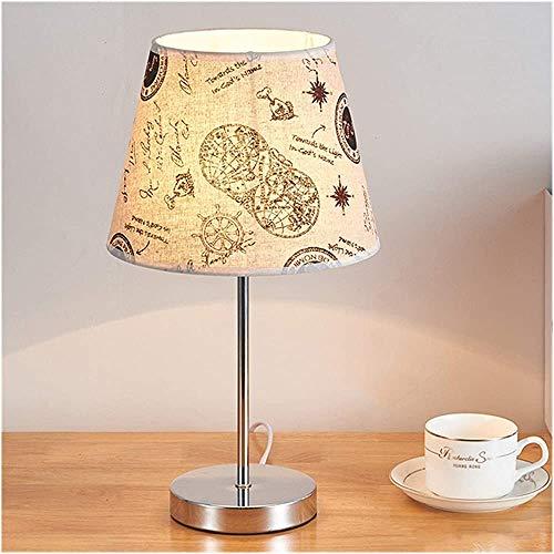 Lámpara de mesa sala de estar dormitorio lámpara de noche lámpara de tela moderna tela nórdica lámpara lámpara de pie Products,D