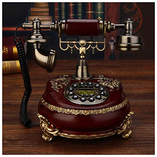Teléfono retro vintage Teléfono Europeo Teléfono fijo Hogar Cableado Retro Teléfono retroiluminado Manos libres Mecánico Doble timbre Sala Teléfono antiguo (Tamaño: C) (Tamaño: B)