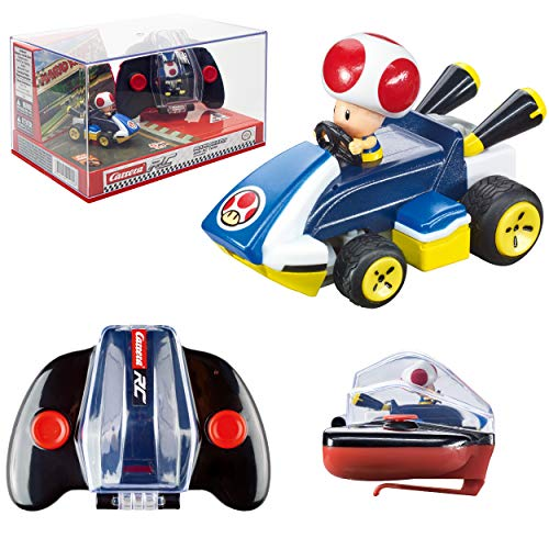 Carrera RC Nintendo Mario Kart 2.4 GHz Mini Collectible Radio Remote Control Toy Car Vehicle - Toad
