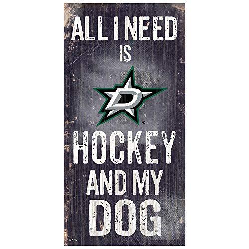 Fan Creations NHL Dallas Stars Unisex Dallas Stars Hockey und My Dog Schild, Team-Farbe, 15,2 x 30,5 cm