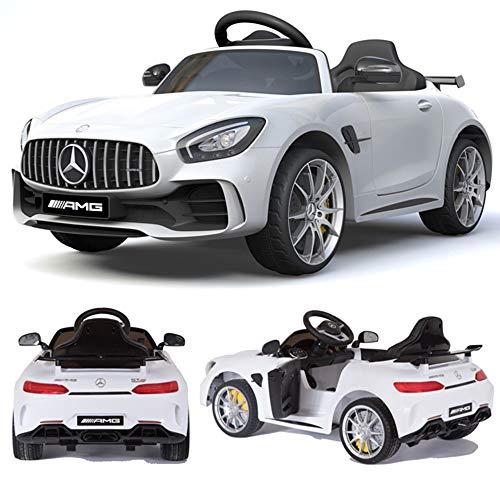 crooza Mercedes-Benz GT-R GTR SoftStart Kinderauto Kinderfahrzeug Kinder Elektroauto (Weiss)