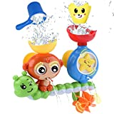 GOODLOGO Bath Toys for Toddlers Kids Babies 1 2 3 Year Old Boys Girls Bathtub Toy with 2 Toy Cups...