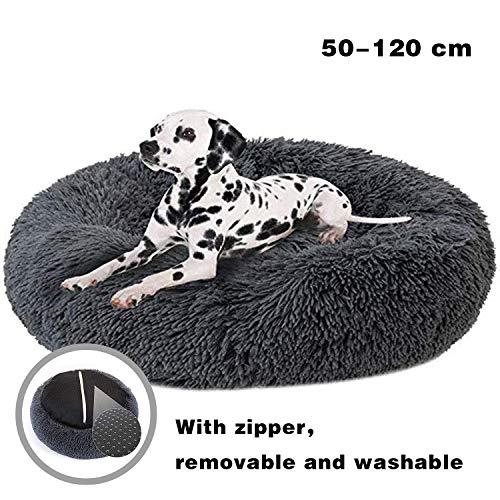 JRUI Katzensofa Bett Rund Waschbar, Mit Reissverschluss, Extra Weich, Zum Entspannen, Gegen ängste, für Kleine, Mittlere und Große Hunde Katzen