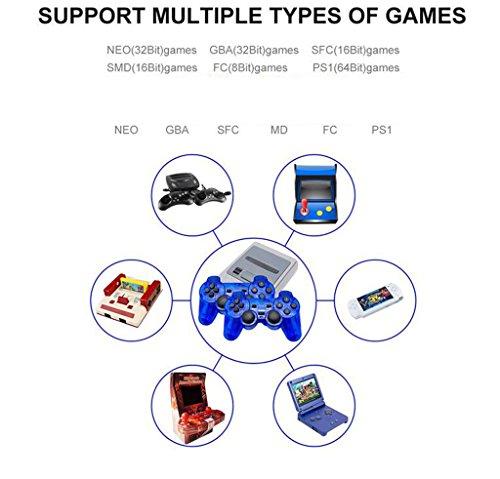 Console De Jeux PC De Poche TV Play Machine Jeux Pour Enfants 2 Jeux PC Compatible Avec 6 Plates-formes De Jeu Jeux 1000 Intégrés Interface HDMI/AV Double Sortie