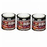 Asahipen(アサヒペン) 油性高耐久鉄部用 白 1/5L 【まとめ買い3缶セット】