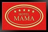 Hanse Home 100928–Felpudo (Hotel Mama 40x 60cm, Color Rojo