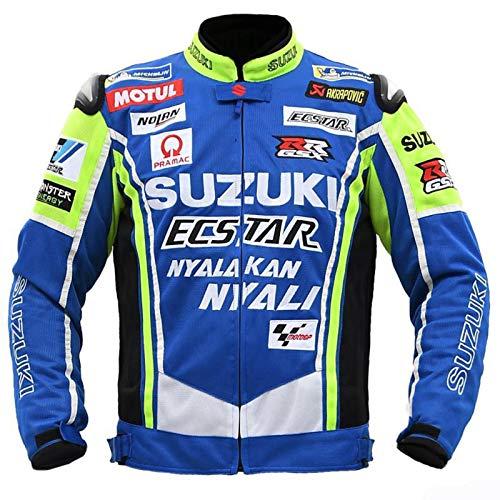 Softshelljacke Beheizbare Jacke hochsichtbar, Roller Quad Biker Touring für Radfahren Reiten Motorrad Fahren Schilauf,Blau,XXXXL