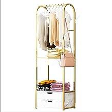 MU Wieszak na ubrania dom wieszak na ubrania drzwi prosty wieszak do przechowywania ubrań marmur wieszak podłogowy z 2 szu...
