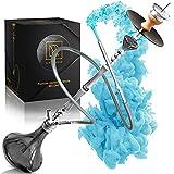M. ROSENFELD Premium Shisha Big ONE - Juego completo de cachimba de 111 cm con 4 conexiones que incluyen adaptador, cámara cerrada con hilo de clic