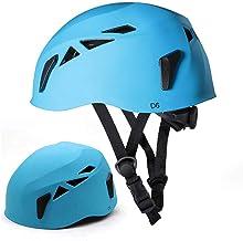 NINI Casco de Deportes de protección, al Aire Libre Downhill Casco, Ampliación de la Cueva de Rescate de Montaña Ser líder en la Hebilla de Casco, Casco de Río Climbing Equipment,Azul