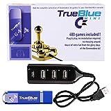 Teakpeak True Blue Mini Plug Play Addon für C64 / C64 Mini (480 Games)