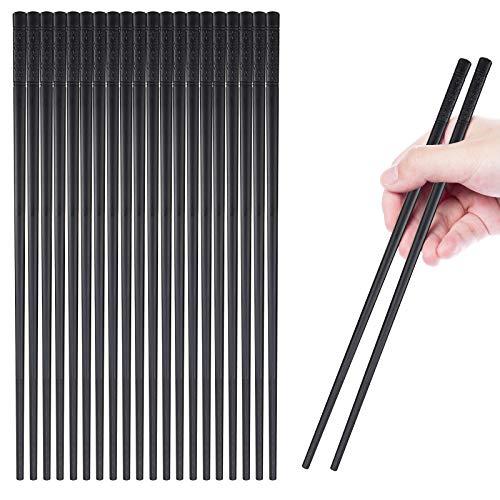 10 Pairs Reusable Fiberglass Chopsticks, Non-Slip Chopsticks, Beginners Chopsticks, Dishwasher Safe, for Chinese style Japanese Food Cooking Chopsticks,(9.5 inch Black cherry blossom)