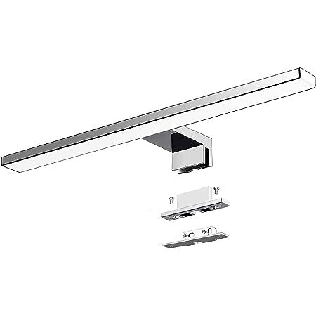 Azhien Lampe pour Miroir LED Salle de Bains 10W 820lm,400mm Blanc Neutre 4000K Lampe Miroir 230V IP44 3 en 1 Salle de Bain Lumiere 40cm