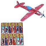 Newin étoile 12assortis Flying Glider Planes avions à hélices enfants Lots cadeaux de fête Jouets