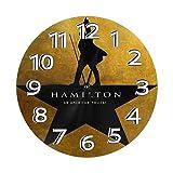 FETEAM Reloj de Pared Art Hamilton Relojes de Pared Funciona con Pilas Silencioso Decoración Pared para Cocina, Salon, Oficina, Dormitorio 25cm