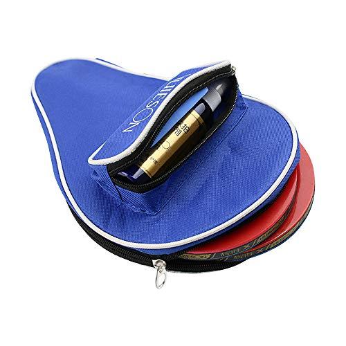 AZXAZ Ping Pong Paddle - Funda impermeable para raquetas de ping pong (cierre de cremallera), azul