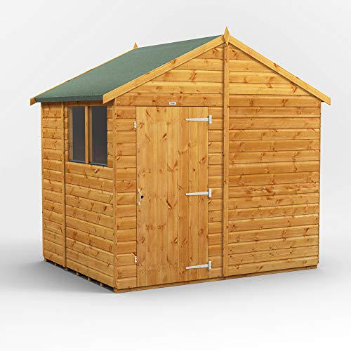 POWER | 6x8 Apex Wooden Garden Shed | Size 6 x 8 | Super Fast Delivery or Pick your own day