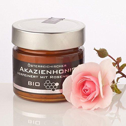 Bio Akazienhonig verfeinert mit Bio Rosenblüten, 250 g