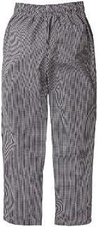Nanxson Unisex Professionali Pantaloni da Cuoco Uomo Cotone Pantaloni da Chef Elastico Pantaloni da Lavoro Stampati CFM2007