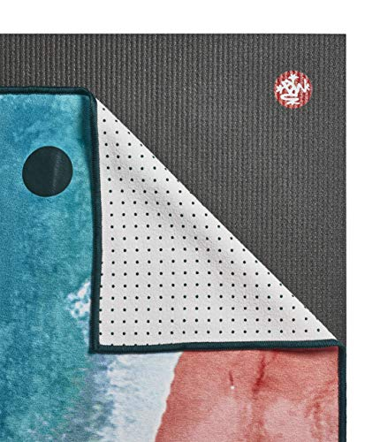 Yogitoes Manduka Yoga Towel for Mat NonSlip and Quick Dry for Hot Yoga with Rubber Bottom Grip Dots 68 Inch Long Line Beach Thin and Lightweight