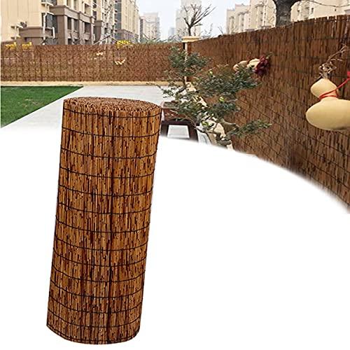 LYAH Cortina de esgrima natural, para ventanas enrollables decorativas, para jardín, interior, balcón, ventana, tamaño grande, tamaño (altura: 0,8 x 5,5 m, 31 x 217 pulgadas)