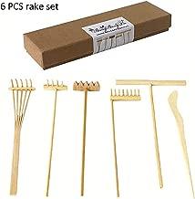 Zen Rake Mini Zen Garden Rakes ,Meditation Sand Zen Garden Tools, DIY Rock Zen Garden Kit Sets, Fidget Toy, Zen Garden Accessory,Father's Gift,Man's Gifts,Mother's Gifts (Rake Sets)