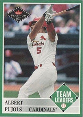 2001 Fleer Platinum Team Leaders Albert Pujols St Louis Cardinals Baseball Rookie Card #435