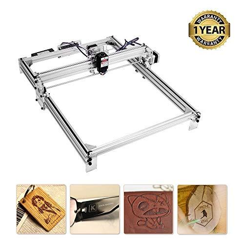 TOPQSC Máquina de grabado láser, enrutador cnc de madera, marca de imagen del logotipo de la impresora DIY, impresora de oficina de 2 ejes para cuero plástico de madera, 400 * 300 mm, 10000 mw