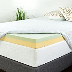 Zinus 4 Inch Green Tea Memory Foam Mattress Topper