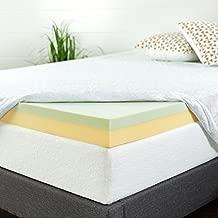 ZINUS 4 Inch Green Tea Memory Foam Mattress Topper / Pressure-Relieving Layers / CertiPUR-US Certified, Queen