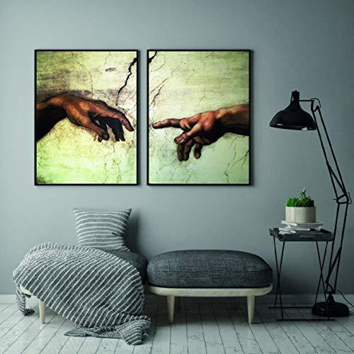 ARTPRIME Láminas para enmarcar Modernas. Set de Dos láminas decoración modernista. Impresión de Calidad. Papel de 250Gr. (A3)
