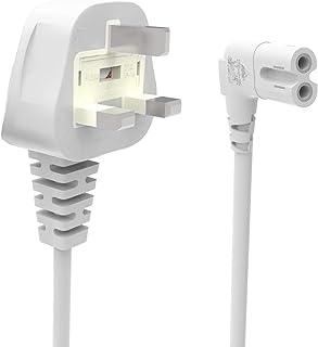 Kabel zasilający UK 3-pinowy wtyczka do kąta prostym IEC C