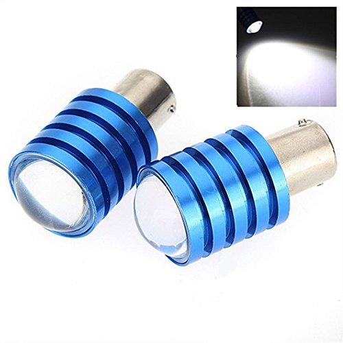 Lot de 2 ampoules LED Cree 1156 BA15S 7 W pour feux arrière de voiture Blanc DC 12 V