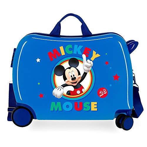 Disney Circle Mickey Maleta Infantil Azul 50x38x20 cms Rígida ABS Cierre combinación...