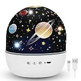Hepside Proyector Estrellas, Lampara Proyector Infantil, Romántica con 360°Rotación Proyector Estrellas Bebe, 7 Modo...