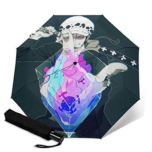 Anime One Piece Repel Umbrella Compact Travel Umbrella Windproof Double Canopy Construction Lightweight Portable - Automatic Opening/Closing