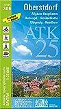 ATK25-S06 Oberstdorf (Amtliche Topographische Karte 1:25000): Allgäuer Hauptkamm, Hochvogel, Hornbachkette, Elbigenalp, Nebelhorn, Allgäuer Alpen, ... Amtliche Topographische Karte 1:25000 Bayern)