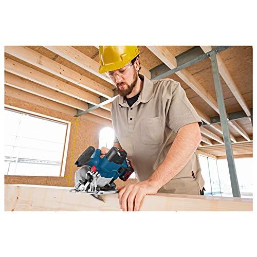 Bosch Professional GKS 18 V-LI Akku-Kreissäge, Schnitttiefe 90/45 Grad, 51/40 mm, stufenlose Schnitttiefeneinstellung in L-Boxx ohne Akku und Ladegerät, 1 Stück, 060166H006 - 6