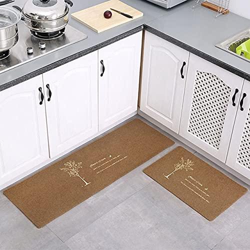 WESG Alfombrillas Impermeables para Cocina, Alfombrillas Impresas en 3D para Puertas de Entrada para Interiores y Exteriores, alfombras Antideslizantes absorbentes para baño NO.6 40X60cm y 40X120cm