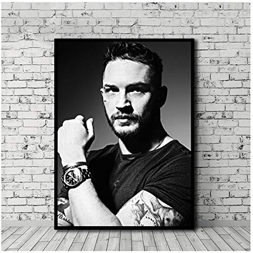 xiongda Tom Hardy Gemälde Poster druckt Leinwand Wandbild für Home Room Decor Druck auf Leinwand-20x28 Zoll ohne Rahmen