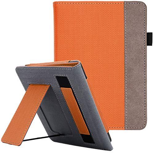 WALNEW Kindle Paperwhite Hülle 10. Generation 2018, Kickstand Schutzhülle Tasche für Amazon Kindle Paperwhite 10th Gen(Model NO. PQ94WIF) eReader mit Handschlaufe & Auto Sleep/Wake Funktion