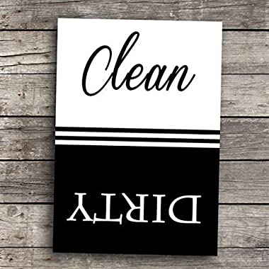 Clean Dirty Dishwasher Magnet Classic Style 2.5  x 3.5  Size