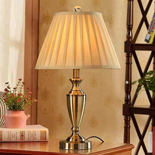 Lámparas de mesa, personalidad Lámpara retro simple de cobre, dormitorio de la sala de estar Lámpara de noche creativa moderna, lámpara decorativa de lujo, lectura de la luz de la noche | Código de pr