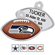 Officially licensed fan gear for dogs! Your dog will look paw-some sporting their new NFL team dog tag. Made of solid steel, this tag is tough enough to stand up to all kinds of ruff-housing. To see all our pet ID products, click on our brand name GO...