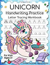 Unicorn Handwriting Practice: Letter Tracing Workbook for Kids Ages 3+ (Little Learner Workbooks)